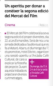 Noticia capgros Mercat 2013 Arcadia