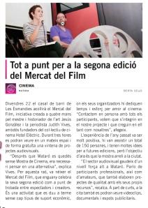 Noticia Tot Mataró Mercat 2013